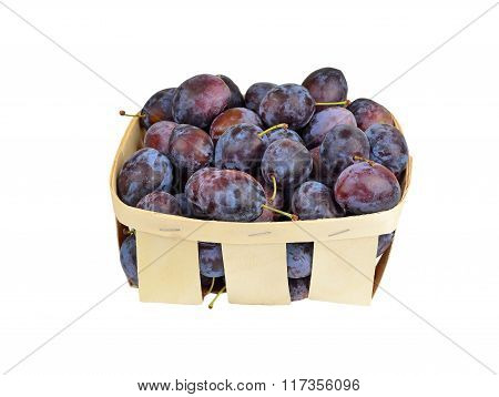 Plum In A Wattled Basket