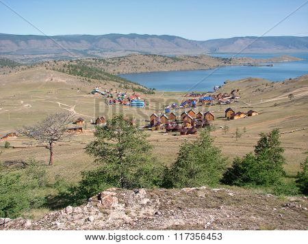The Gulf Lake Baikal - a view from the mountain