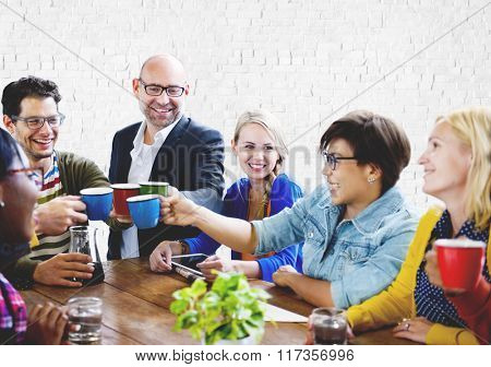 Group of People on Coffee Break Community Concept