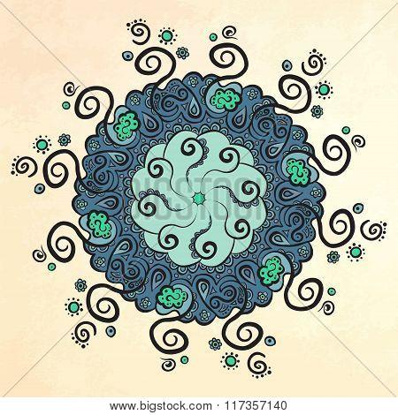 Mandala. Circle ornament.