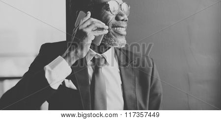 Man Talking Phone Communication Concept