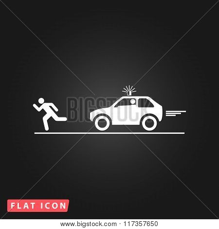 robber and police car