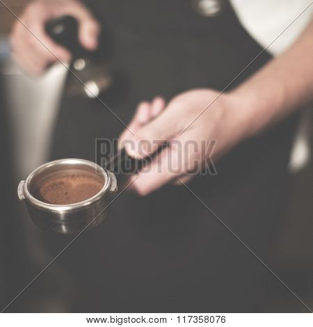 Brew Cafe Cappuccino Coffee Machine Restaurant Concept