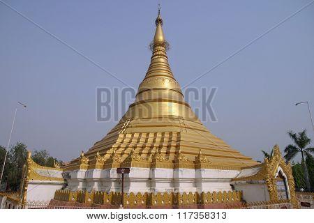 Myanmar temple in Lumbini Nepal