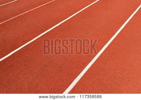 Direct Athletics Running Track At Sport Stadium