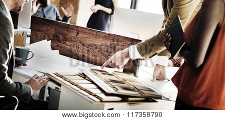 Designer Architect Stationary Choice Selecting Concept