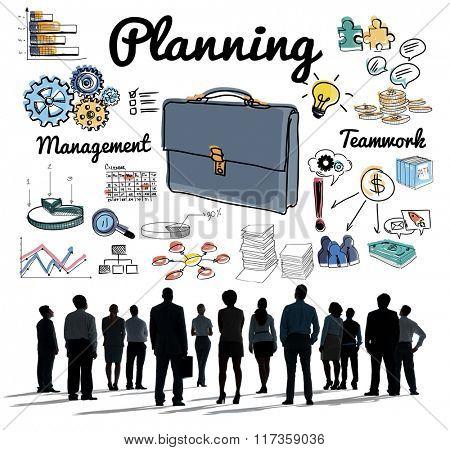 Planning Briefcase Management Business Concept