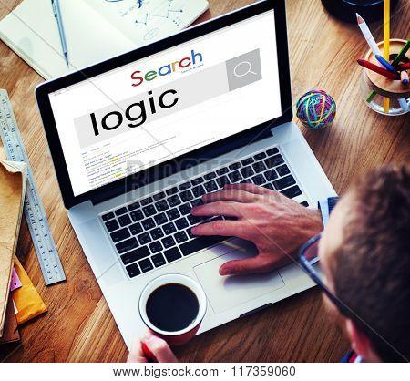 Businessman Connect Logic Internet Search Concept