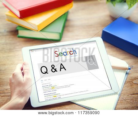 Q&A Frequently Asked Question Information Concept
