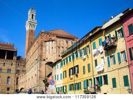Siena tower, Palazzo Pubblico, Italy