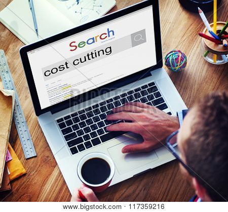Cost Cutitng Banking Budget Accounting Concept