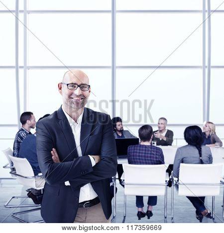 Business People Meeting Leadership Teamwork Concept