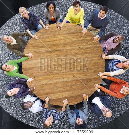 Support Team Teamwork Holding Hand Concept