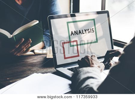 Business Men Analysis Working Concept