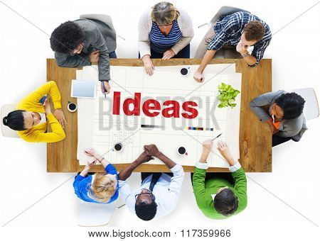 Ideas Thinking Creative Mission Thoughts Concept