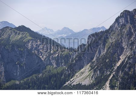 Panorama View To Bavarian Alps
