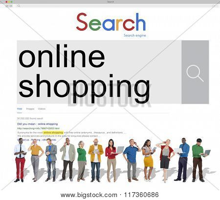 Online Shopping Commercial Buying Retail Concept