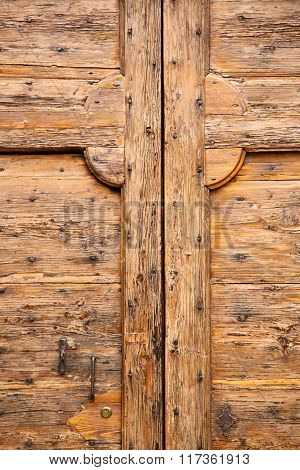 Cavaria   Rusty Brass Brown  A  Door Curch  Wood  Italy  Varese