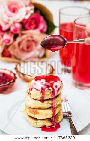 Homemade Cottage Cheese Pancakes