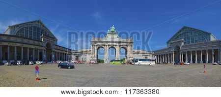 The Triumphal Arch (arc De Triomphe) In Brussels