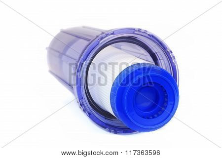 New Charcoal Water Filter Cartridge Isolated On White Background