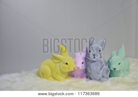 Colored Easter Bunnies