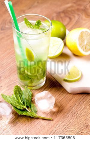Mojito Coctail With Mint