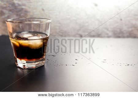 Whiskey-cola Alcoholic Drink