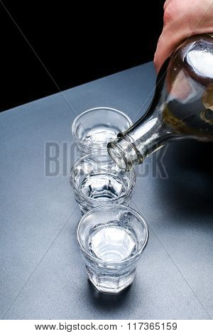 Vodka Glasses On The Table