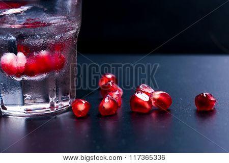 Pomegranate Seeds And  Vodka