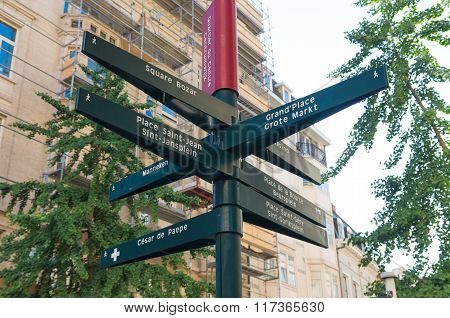 Signpost In Brussels
