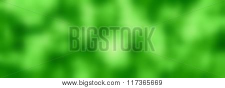 Green Abstract Blurred Background, Soft Blurred Banner