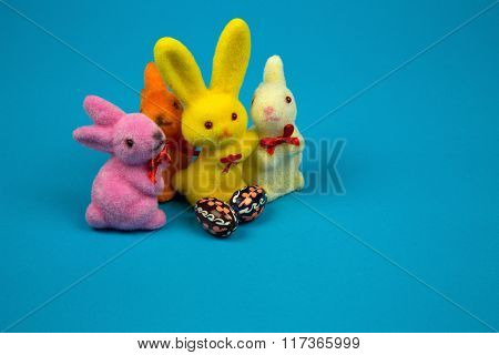 Figurines Easter Bunnies And Easter Eggs
