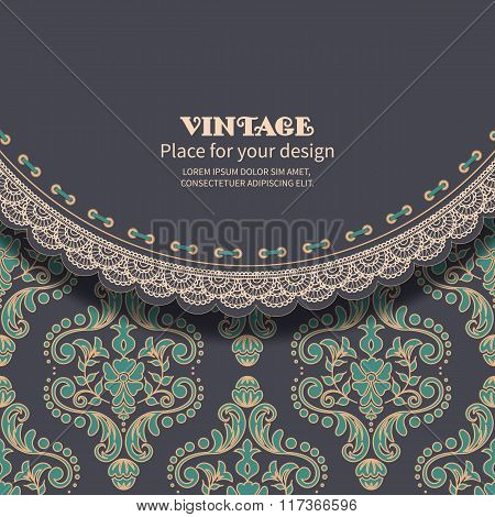 Retro background with lace