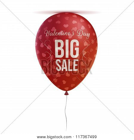 Valentines Day Balloon with Hearts Pattern