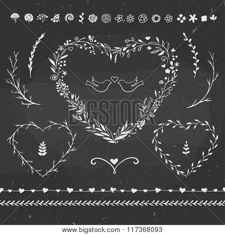 romantic floral set