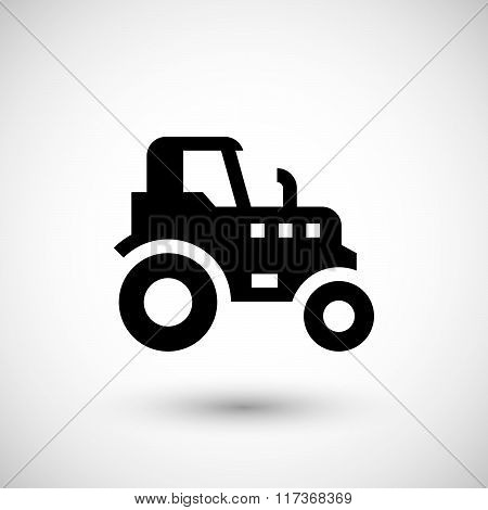 Agricultural tractor icon