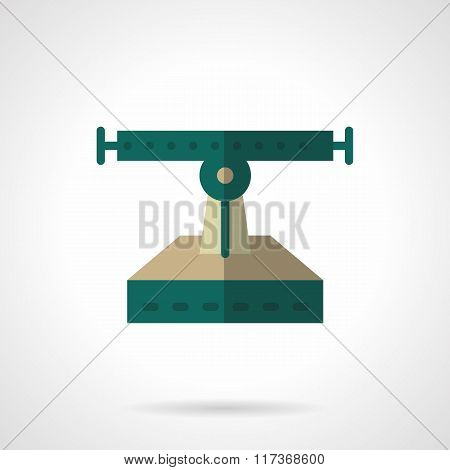 Flat color longboard services vector icon