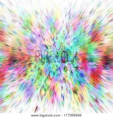 Abstract background of colors burst over white