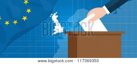 eu british referendum europe union exit britain break vector illustration