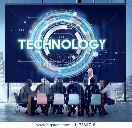Technology Hud Future Digital Media Innovation Concept