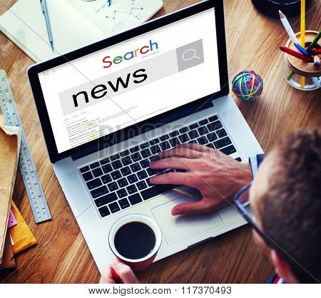 News Information Announcement Broadcast Media Concept
