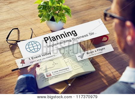 Planning Solution Strategy Operations Design Ideas Concept