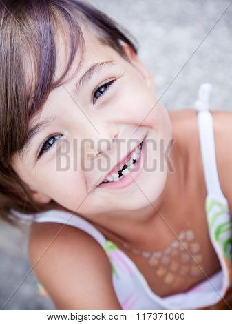 Lovely Little Girl Smilling