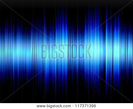 Blue abstract digital sound wave.