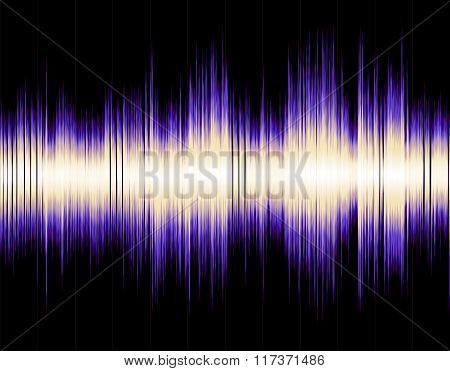 Colorful abstract digital sound wave background.