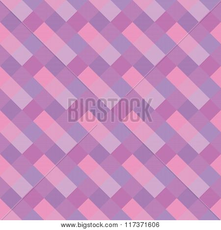 Seamless geometric pattern. Stripy texture. Diagonal lilac, rose, magenta striped background. Vector