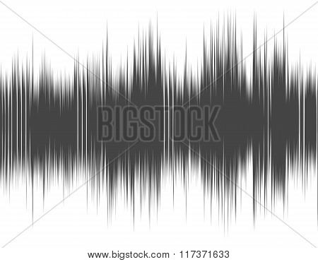 Gray abstract digital sound wave.