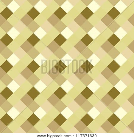 Seamless geometric pattern. Diagonal square, braiding, woven line background. Strapwork texture in w