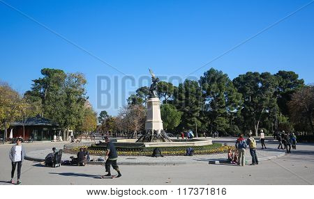 The Buen Retiro Park In Madrid, Spain
